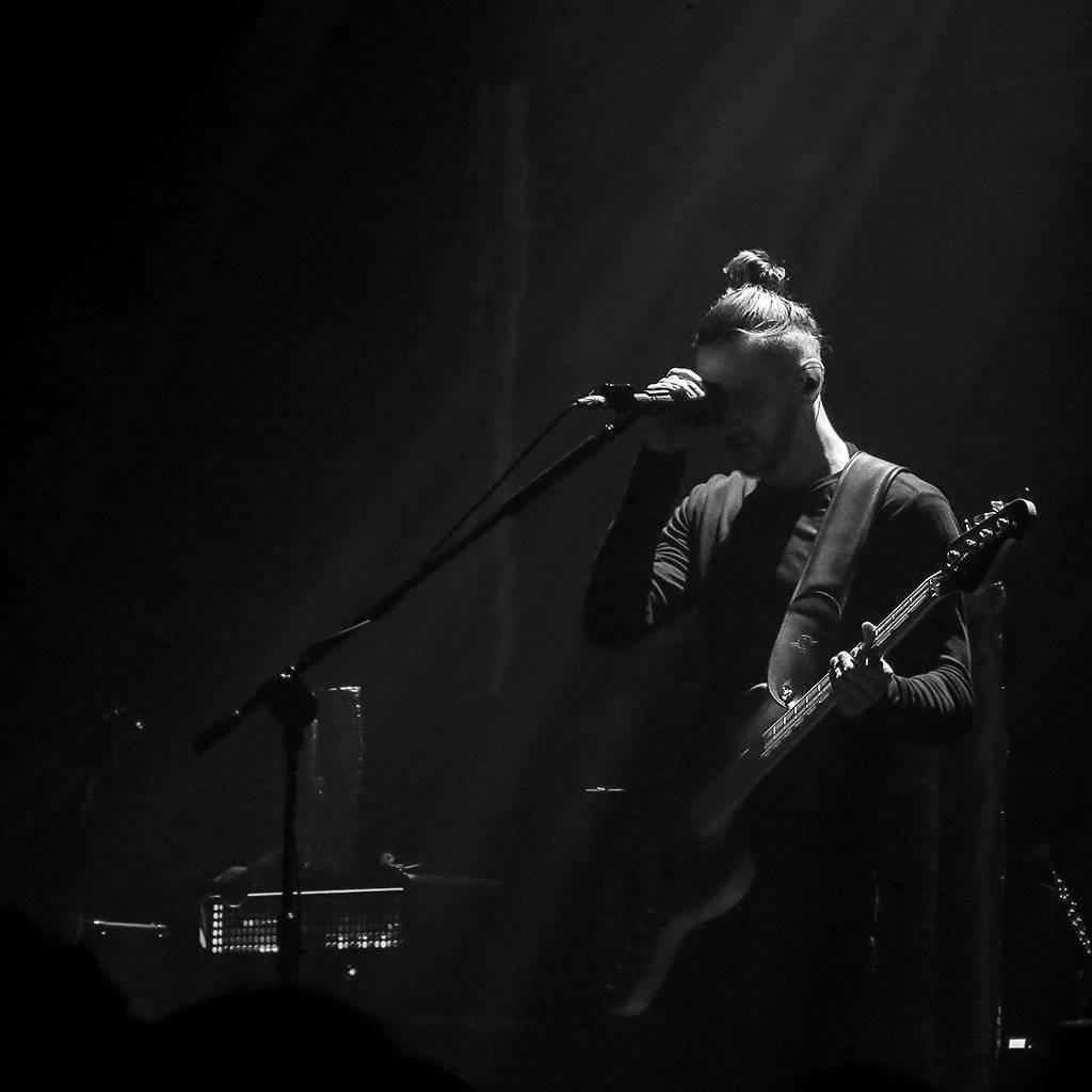 Mariusz Duda of Riverside playing in Warsaw