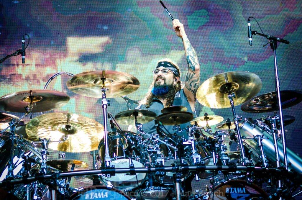 Mike Portnoy on drums