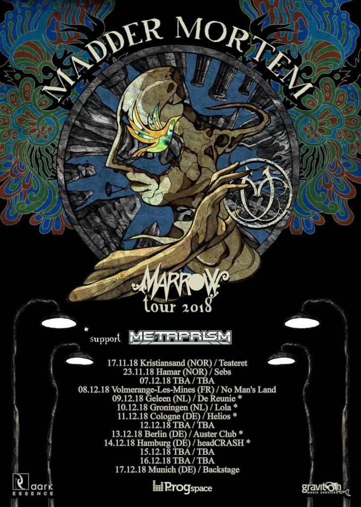 Madder Mortem on tour EU 2018