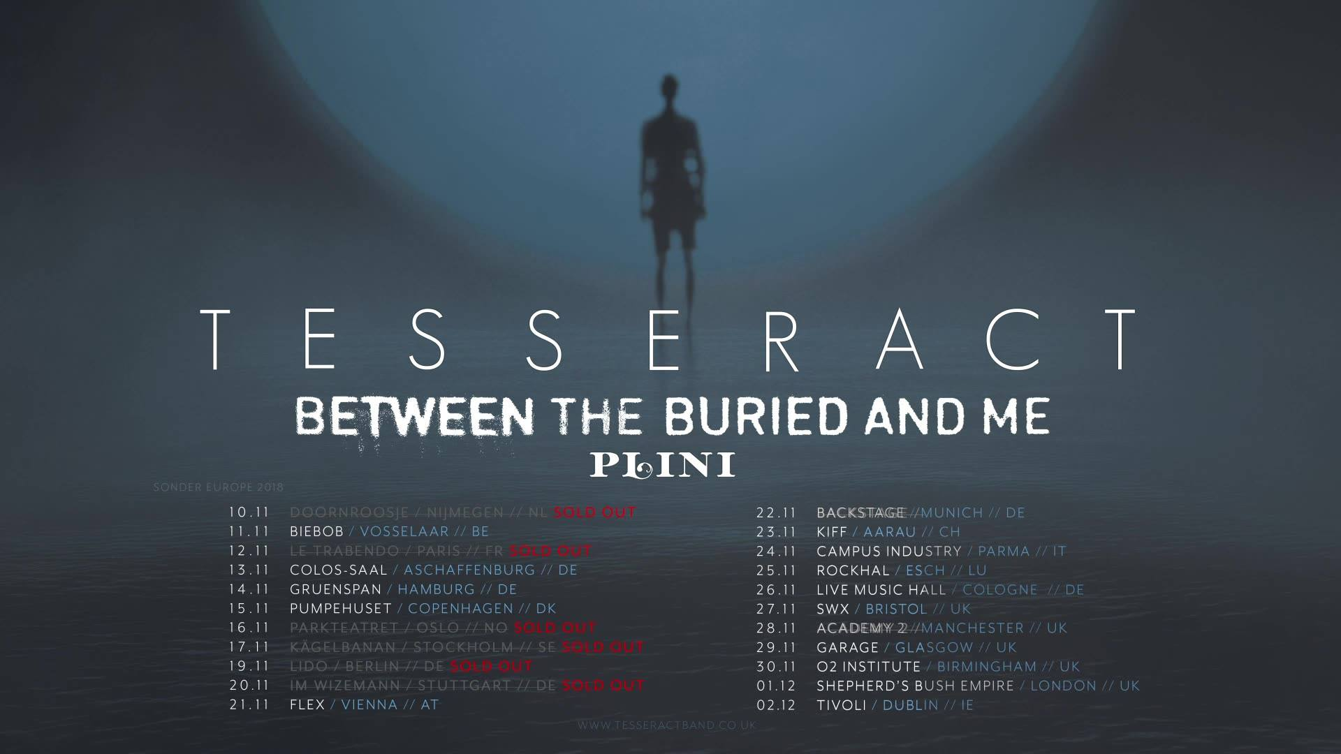 TesseracT, Between The Buried And Me & Plini in Munich, September 26 2018