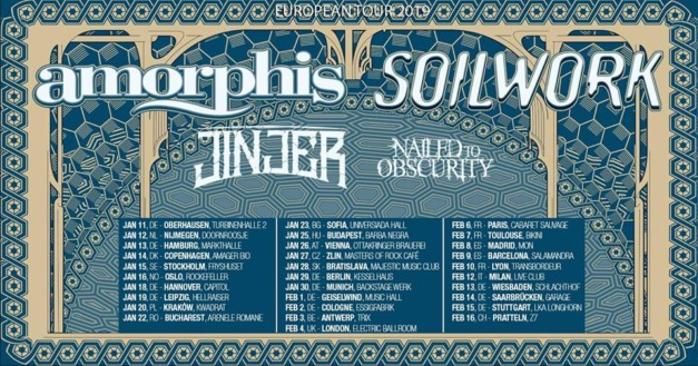 Amorphis, Soilwork, Jinjer & Nailed to Obscurity live in Munich, January 30. 2019