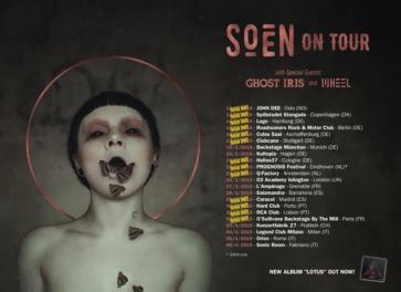 Soen, Ghost Iris & Wheel live in Munich, March 19, 2019
