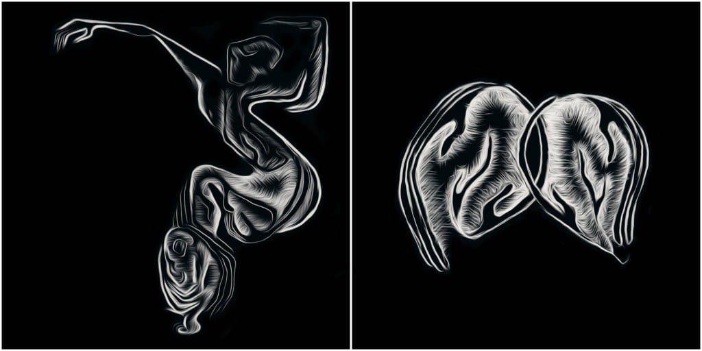 Sevcan Yuksel Henshall's artworks for 'Twisted Shadows' and 'Limbo'