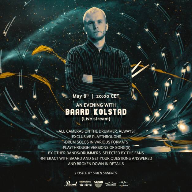 An Evening with Baard Kolstad – Live Streaming